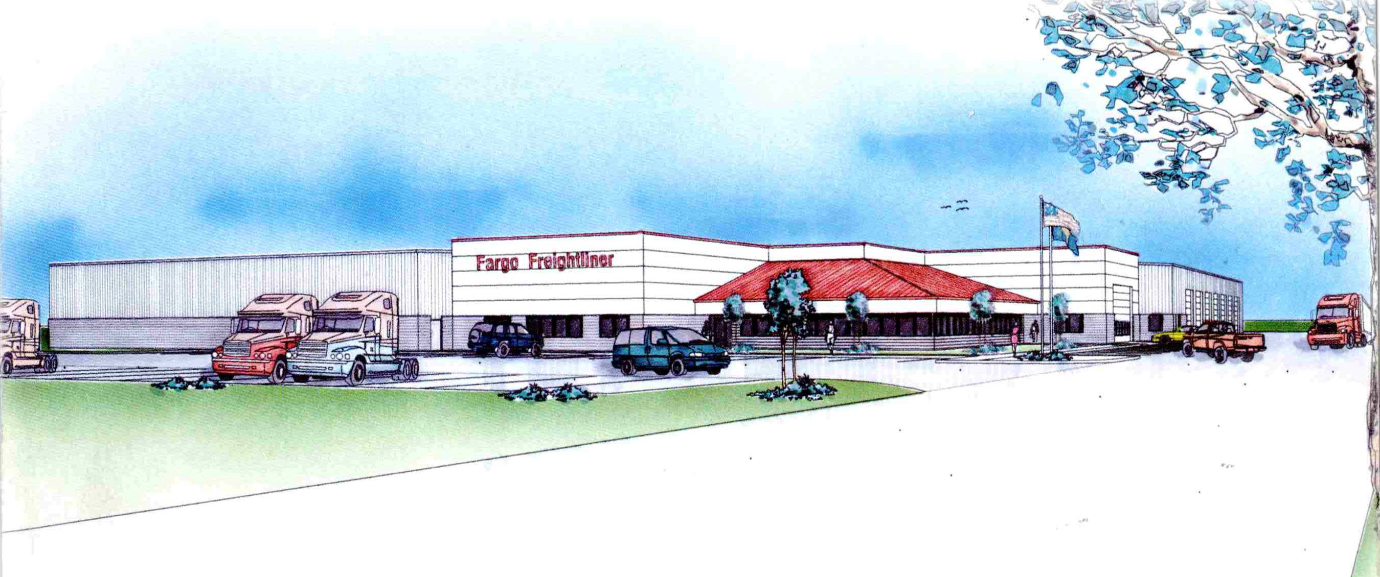 Fargo Freightliner artist rendering